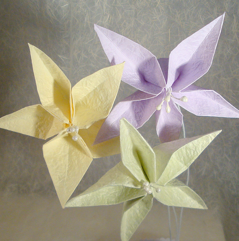 Origami flower bouquets and origami flower garlands paper demon jewelry - Origami origami origami ...